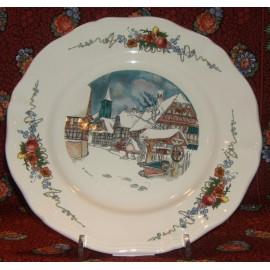 """Assiette Plate """"L'hiver"""" Obernai"""