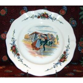 """Assiette Plate """"Danseurs"""" Obernai"""