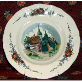 """Rim soup plate """"Church"""""""