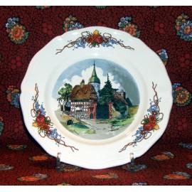 """Assiette dessert """"Chapelle"""" Obernai"""