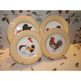 4 Dessert plates PAILLE