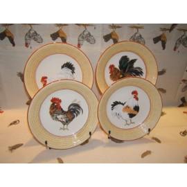 4 Deep plates paille