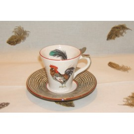 cup & saucer coffee bronze