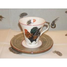 cup & saucer tea bronze
