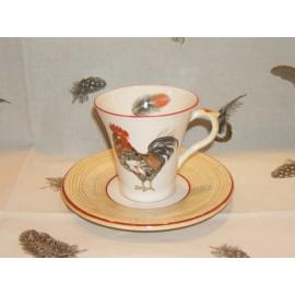 cup & saucer tea paille