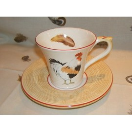 cup & saucer breakfast paille