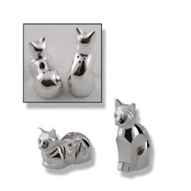 Salt and pepper cat design