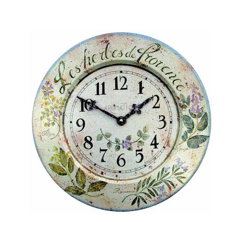 Pendule murale herbes de provence boutique cellier for Pendules murales decoratives