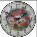 Poppies model Clock