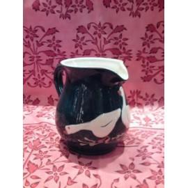 pichet 16 cm / poterie d'Alsace / oie vert