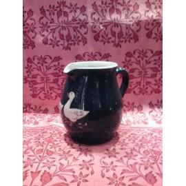 pichet 12 cm / poterie d'Alsace / oie vert