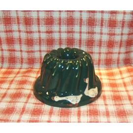 Moule à kougelhopf 20cm / poterie d'Alsace / oie vert