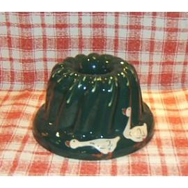 Moule à kougelhopf 22cm / poterie d'Alsace / oie vert
