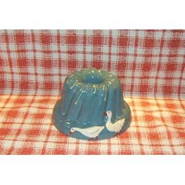 Moule à kougelhopf 20cm / poterie d'Alsace / oie bleu