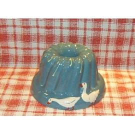 Moule à kougelhopf 22cm / poterie d'Alsace / oie bleu