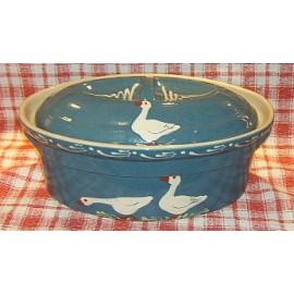 Terrine ovale N° 6 / poterie d'Alsace / oie bleu