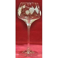 6 glasses cristallin graved