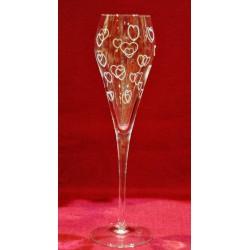 6 flûtes à champagne Super gravure bulles