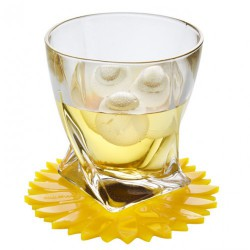 Sunflower glass coaster
