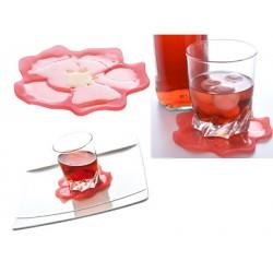 dessous de verre silicone hibiscus