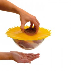 couvercle silicone 20cm sunflower