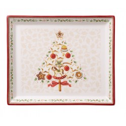Rectangular plate small winter bakery