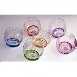6 tumbler glasses couleurs