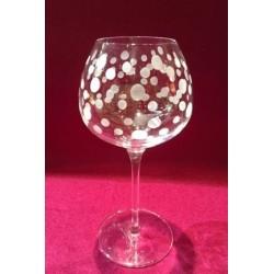 6 verres à vin super 35cl taillé bulles