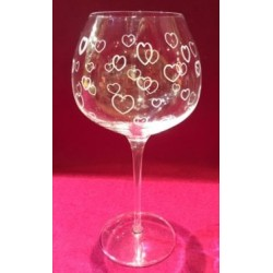 6 glasses cristallin graved grappe