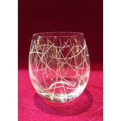 6 glasses cristallin graved grappe