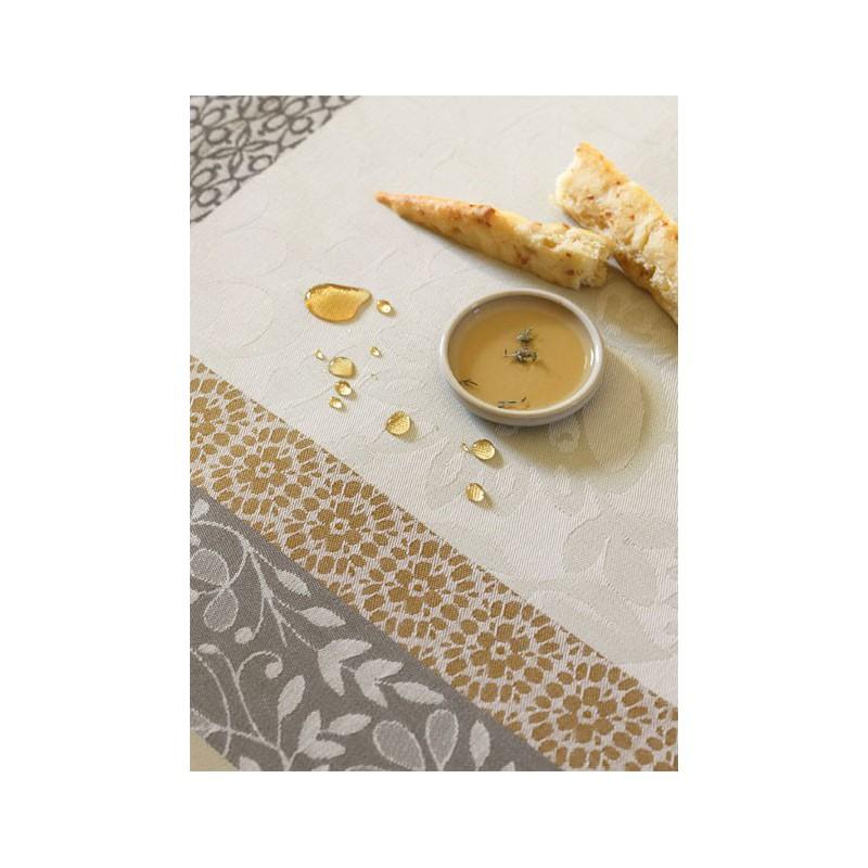 Nappe provence citron vert enduite 150x150cm jacquard français ... 773dae00aa9a