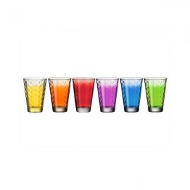 6 chopes optic couleurs assortis