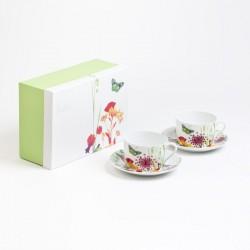 coffret 2 tasses déjeuner Porcelaine Tutti Fiori