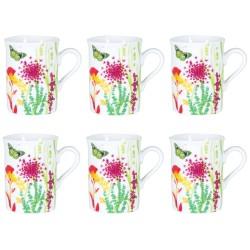 Coffret 6 Mugs Porcelaine Tutti Fiori