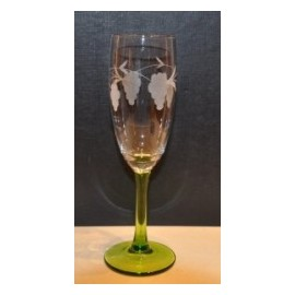 6 crémant glass grappes