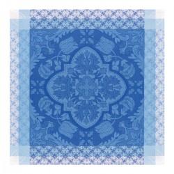 Serviette  Azulegos col. bleu 58x58 jacquard français