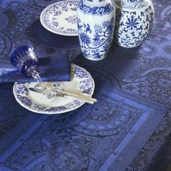 Nappe Porcelaine col. Bleu de Chine 175x175cm