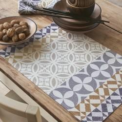 Set Enduit Mosaique col. argile 50x36cm jacquard français