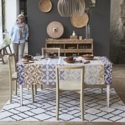 Nappe Mosaique col. argile 175x320cm