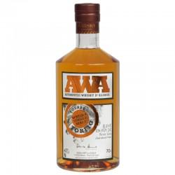 Whisky d'alsace AWA fût de pinot gris tourbé  70 cl.
