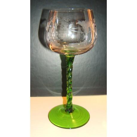 6 verres Alsace suzel 15cl torsadés taillés