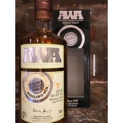 Whisky d'alsace AWA fût de Riesling SGN 70 cl.