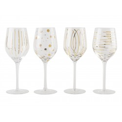 Lot de 4 verres à vin cheers or Mikasa