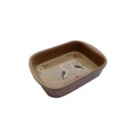Plat à four cigogne bleu 4 tailles disponibles