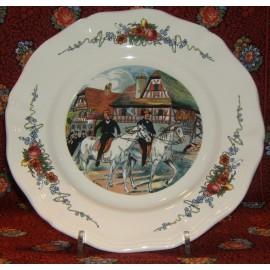 """Assiette Plate """"les cavaliers"""" Obernai"""