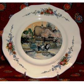 """Assiette Plate """"Le laboureur"""" Obernai"""