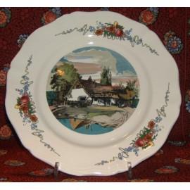 """Assiette Plate """"L'étang"""" Obernai"""