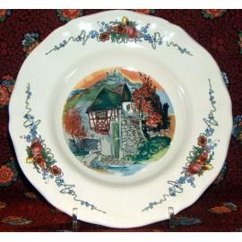 "Assiette creuse ""chateau"" Obernai"