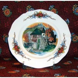 """Assiette dessert """"Chateau"""" Obernai"""