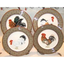 4 Assiettes plates Cour Normande bronze
